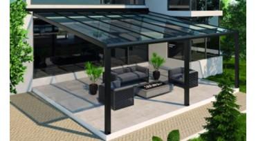 Glazen dak terrasoverkapping