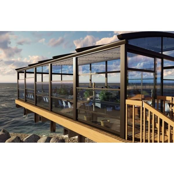Mazzo gemotoriseerde verticale glazenschuifwand